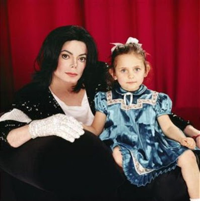 Michael and daughter, Paris, back in 2002