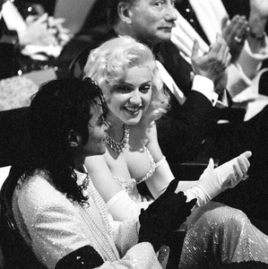 Michael and madonna at the 1991 Academy Awards