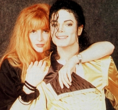 Michael and long time friend and makeup artist, Karen Faye