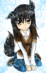 Name: Kage Okami (meaning Shadow Wolf) Birthdate: 03/03/03 Pisces Type: 늑대 Neko Personality: Qui