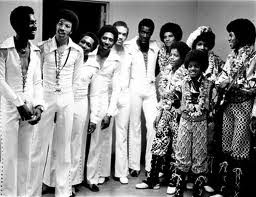 Jackson 5 backstage with The Commodores
