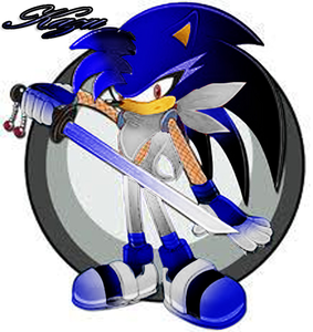 Name: Kazu species: hedgehog 毛皮 color: blue w/ black gradient hair color: blue eye color: red b