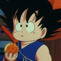 Only one I could find on the Internet. It's Kid Goku holding the 4 star Dragon Ball  Link to Origin