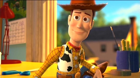 Woody from Toy Story, the seconde is Lightning McQueen from Cars. Find a picture of the best friend