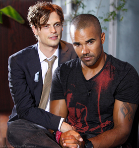 Usually I'd say Josh, but in this pic definitely Michael Matthew Gray Gubler (L) vs. Shemar Moore (R