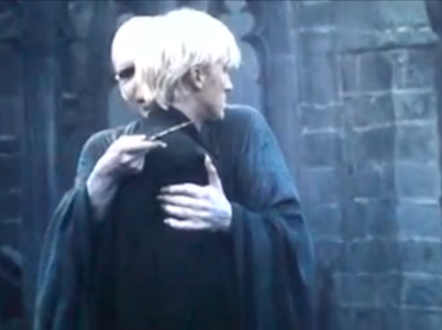 Voldemort hugging Draco.