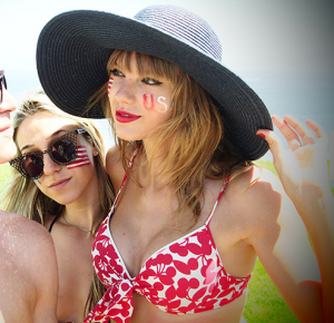 Taylor with friends.:}