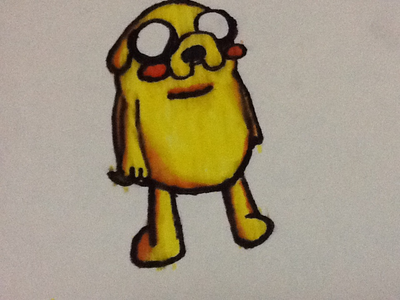 Here&#39;s my Chibi Jake Sketch!     (Sry for dark screen, I am doing dis Fanpop in iPad)