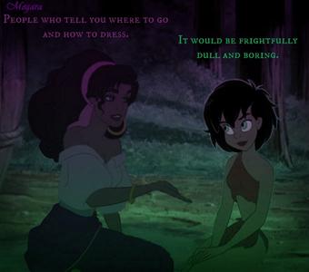 RND2: Jasmine/Cinderella Jasmine: People who tell u where to go and how to dress. Cinderella: I
