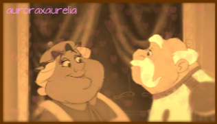 Beast and Cinderella! (Ooo wewe used my picture! :D) Mrs. Potts and The King (Prince Charming's Dad