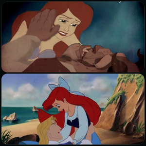 Rapunzel's mom and King Fergus Beast & Ariel au Ariel & John Smith I think wewe know which one I wo