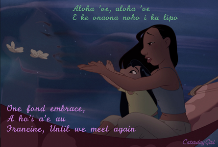 Really proud of this one. Hope u like it Sarah. I thought this scene from Lilo and Stitch is fittin