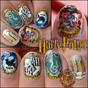 Harry Potter nail art :)))))))))