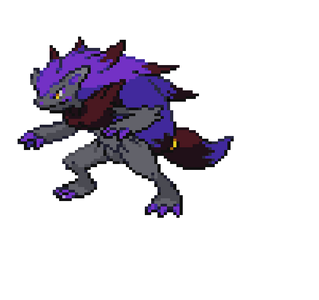 (Okay, let me make this ABSOLUTELY clear. Here's a typical shiny Zoroark...)