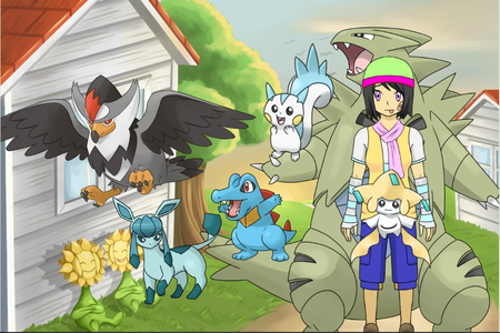 (Here's Mordo lil sis, a pain to him but nice to everyone else) (Todo: Totodile, Jem:Pachirisu, Bodg