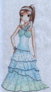 """""""Okay, where is she?"""" Liepre asks. (Oh, that reminds me. Here's Magia's dress. The white parts are"""