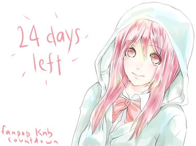 24 days left~ sorry ..i did't have time to do draw..so i just use my old pics my first countdown >>
