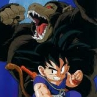 Here is mine of Kid Goku and a Great Ape