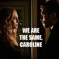 3. Bold Text - Klaus/Caroline (TVD)