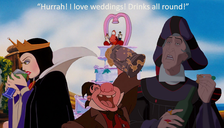 Captain Jack Sparrow: Hurrah! I love weddings! Drinks all round!