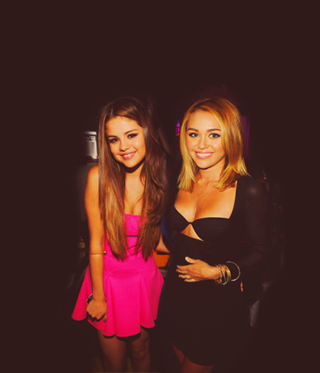 With Miley <3