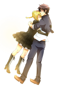 name: Tsukune Aoano appearance: pic (liz is the blonde btw and tsukune is the boy obviously) age: 1