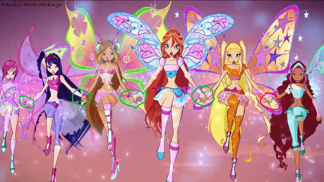 All the Winx are holding hands except no one is holding Layla/Aisha's hand