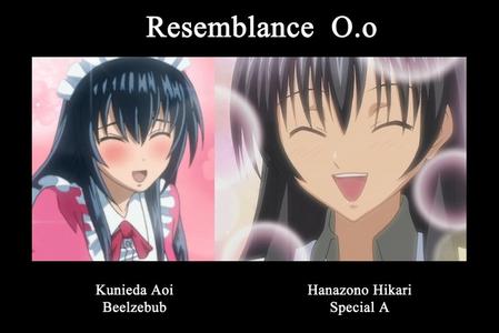 Kunieda Aio from Beelzebub and Hikaru Hanazoro from Special A