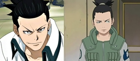 Kageyama from Fairy Tail and Shikamaru from Naruto