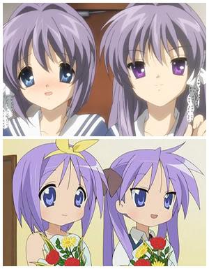 Fujibayashi Twins (Clannad) and Hiiragi Twins (Lucky Star)!!! (^=^)