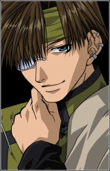 Hakkai from Saiyuki If he takes out the piercings he turns into a demon