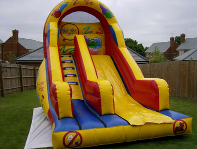 I prefer bouncy castles to trampolines, especially ones with slides.