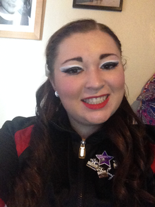 This is me with my competition make up for this season's solo