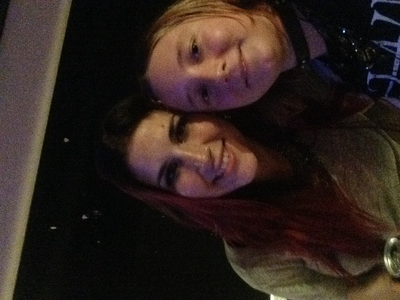 I got to meet my Sekunde Favorit singer! But the pic is sideways!