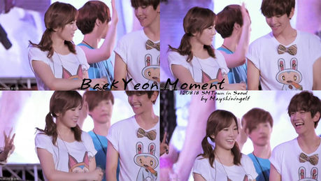 Taeyeon and Baekhyun ^^ I command a picture of Yuri during I Got A Boy live.