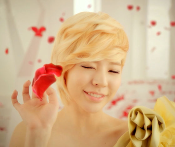 Sunny in a acommercial I want a Picture of Yoona with a rose