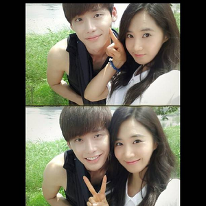 Yuri and Lee Jong Suk I command a picture of Hyoyeon, Kai, and Lay in Dancing 9