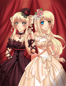 "Name: Katerina and Carolina ""Kat and Copy"" Marchesa (mar-kay-suh) Age: 16 Gender: female Talent: A"