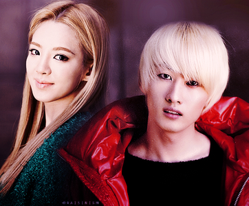 Hyoyeon with Eunhyuk just one question...can the picture be edited? o does it have to be real?
