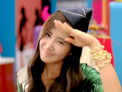 Yul in Gee~~! Because it is the first hit song for them the mv is so cheerful and all of them seem c