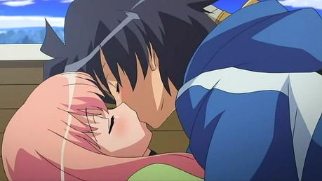 I don't know whether this kiss scene is sexy, but I love this scene<3 Louise&Saito ( Zero no Tsukaim