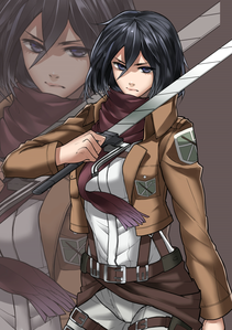Mikasa Ackerman from Shingeki no Kyojin ouo
