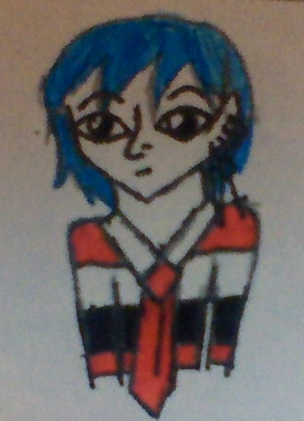 i drew this a while ago. well like in January? ou when ever it was when tae had his blue hair