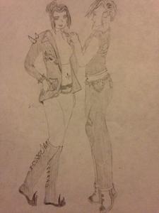 I also did art of Azula with Acxa.