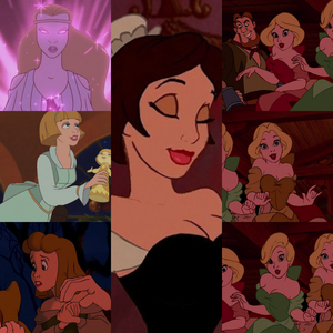"I think that The Enchantress, Babette/Fifi, the Bimbettes, the woman that says ""Good day"", and Angeli"