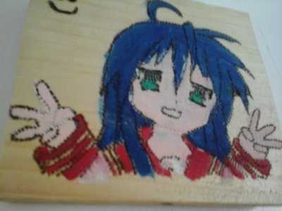 3rd is Konata Izumi from Lucky Star! The painting... -,-