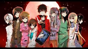 And the original characters. (Numbers from left to right: 9, 3, 5, 8, 7, 1, 2, 4, and 6 is the girl i