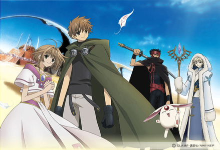 I'd give Tsubasa Chronicle a shot if I were you. There's no cursing, nudity, a minor romance but noth