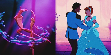 día 23 ~ favorito! Dance Scene [b] Tiana and Naveen in the swamp [/b] and [b] cenicienta and Char