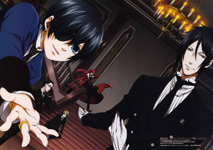 I now watched Black Butler! (I also watched Happiness Charge Pretty Cure but watched Black Butler aft